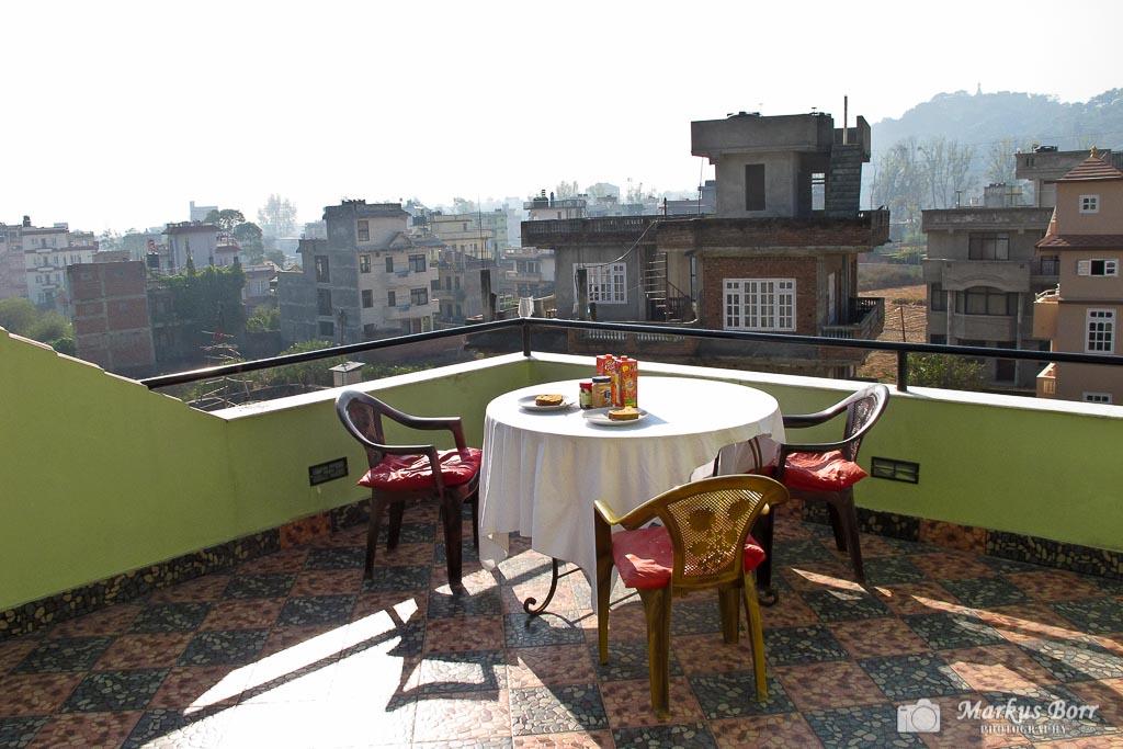 Frühstück in Kathmandu