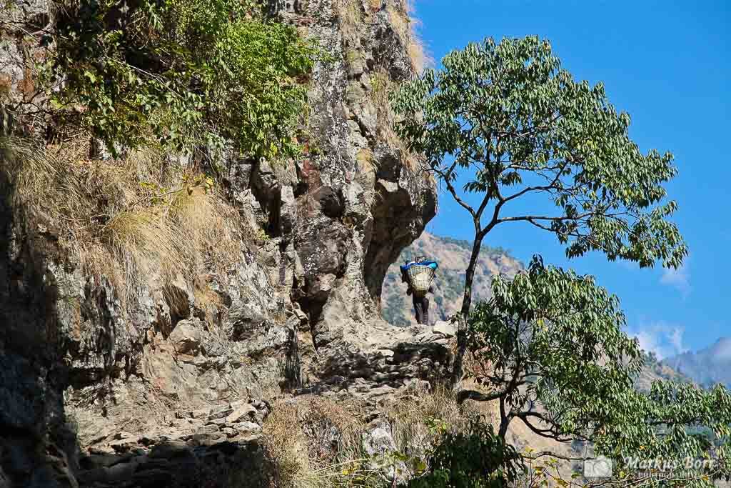 Rock Trail vor Machakhola