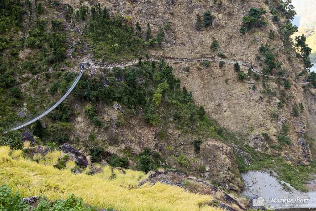 Hängebrücke auf der Manaslurunde