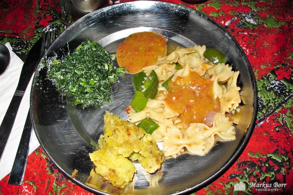 Unser Essen in Nepal