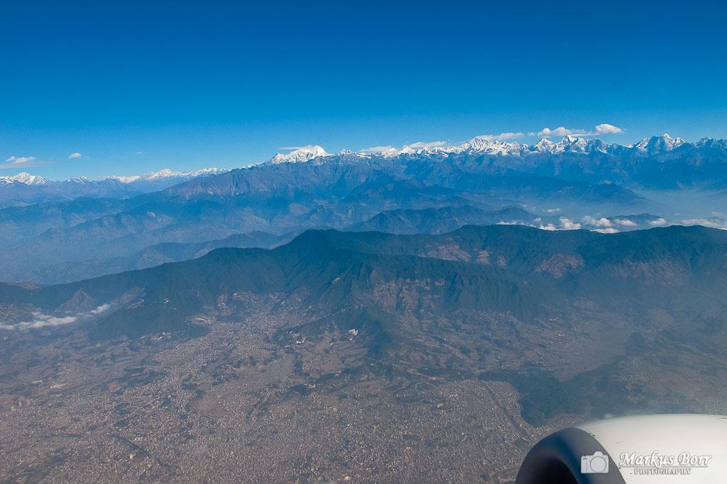 Abflug von Kathmandu