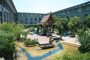 Hotelgarten in Bangkok