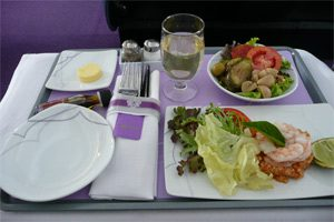 Essen in der First Class