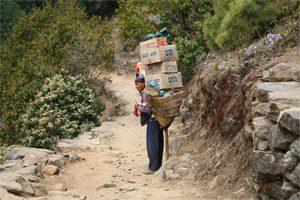 Träger in Nepal