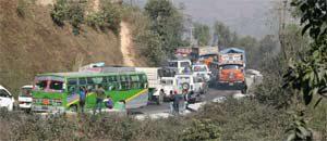 Passstraße bei Kathmandu