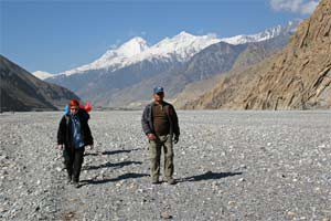 Weg durch die Kali Gandaki nach Kagbeni