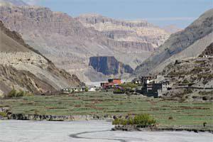 Kali Gandaki Schlucht Blick nach Kagbeni