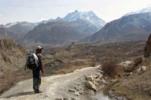 Aufstieg nach Muktinath