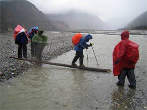 Regen in der Kali Gandaki