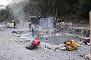 Heiße Quellen in Tatopani