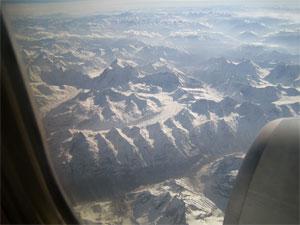 Himalaya - Flug von Delhi nach Leh