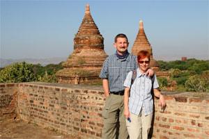 In den Pagoden von Bagan