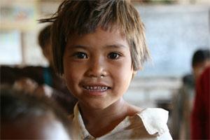 Kind vom Volk der Pa-O am Inle Lake