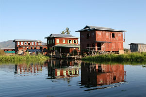 Fischerdorf am Inle Lake