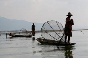 Einbeinruderer, Fischer am inle Lake