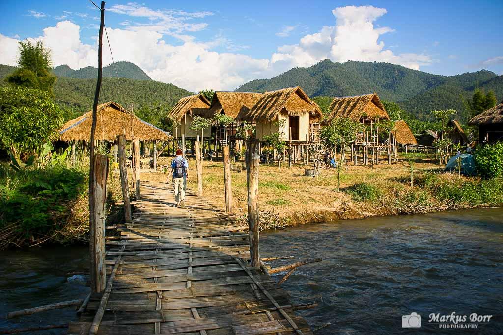 Kleine Hütten in Pai