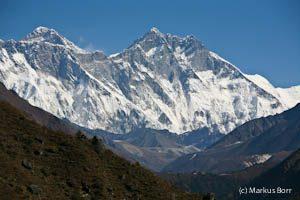 Blick auf Lhotse und Everest