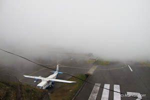 Nebel in Lukla