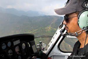 Hubschrauberflug von Lukla nach Kathmandu