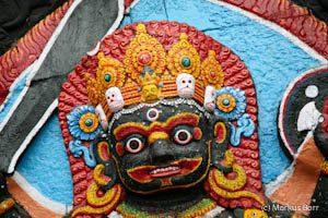 Kala (Black) Bhairab am Darbar Square in Kathmandu