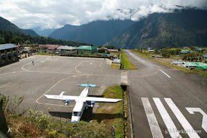 Landebahn Flughafen in Lukla