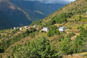 Blick von Lukla in das Tal des Dudh Kosi