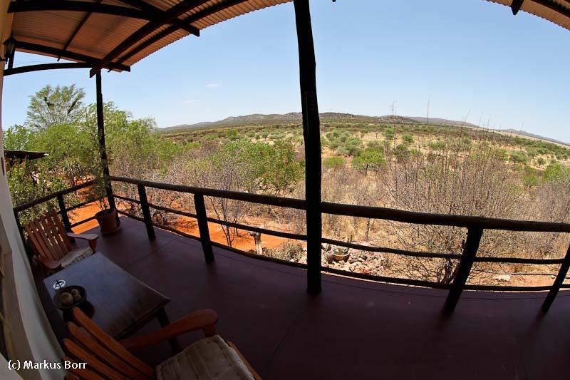 Blick von der Rustig Toko Lodge