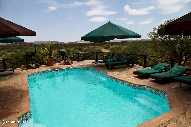 Pool der Rustig Toko Lodge