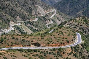 Passstraße in Tibet