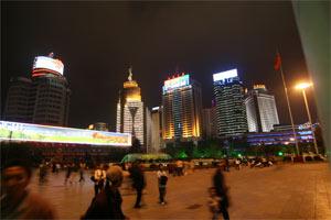 Kunming bei Nacht